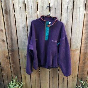 Vintage Columbia Purple Men's Synchilla Fleece